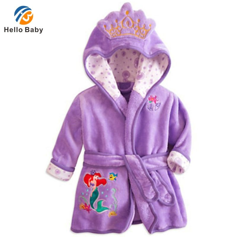 Baby Bathrobes For Children Kids Boy Girl Hooded Terry Bathrobe Winter Baby  Minnie Bath Robes Towel
