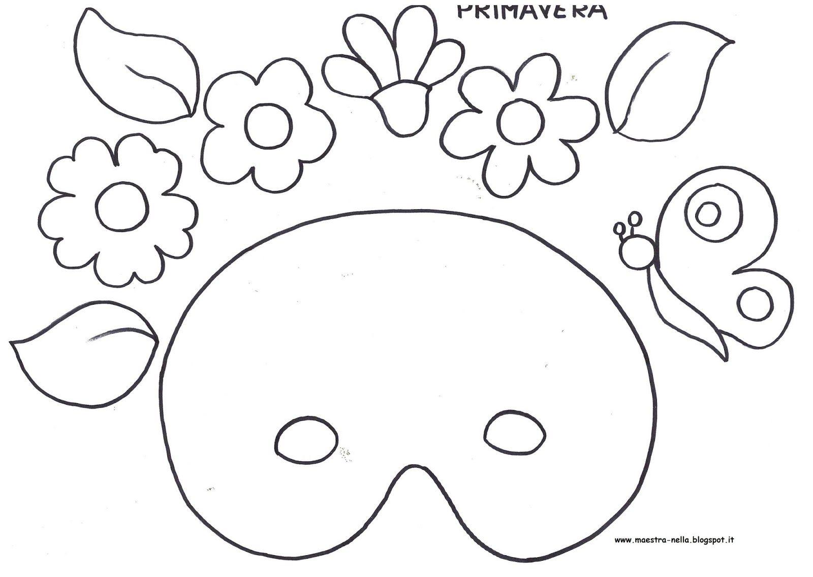 Masque printemps gabarits maternelle carnaval pinterest masque gabarit et printemps - Activite manuelle elementaire ...