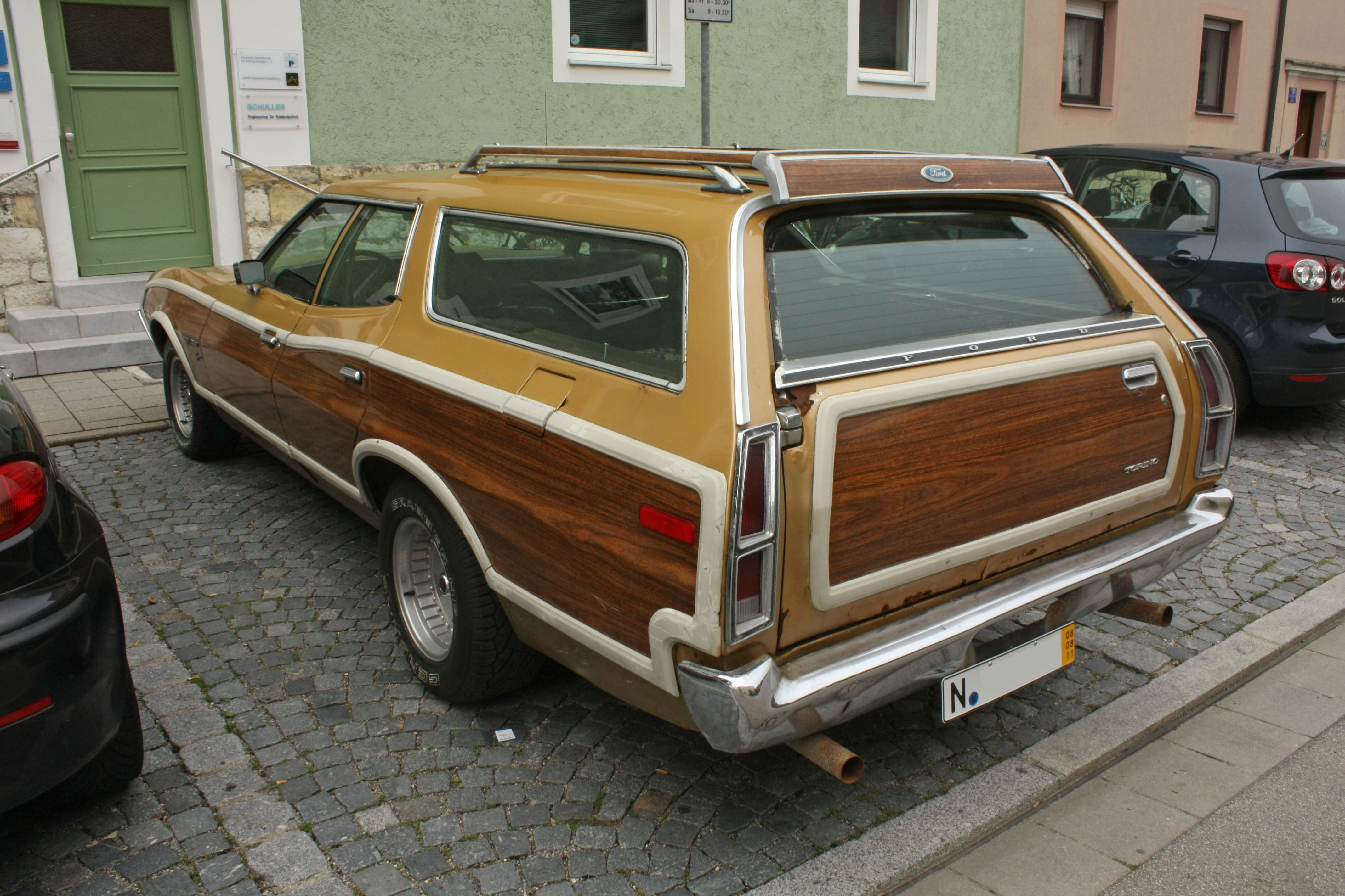 1972 Ford Gran Torino Squire Station Wagon With Non Stock Wheels