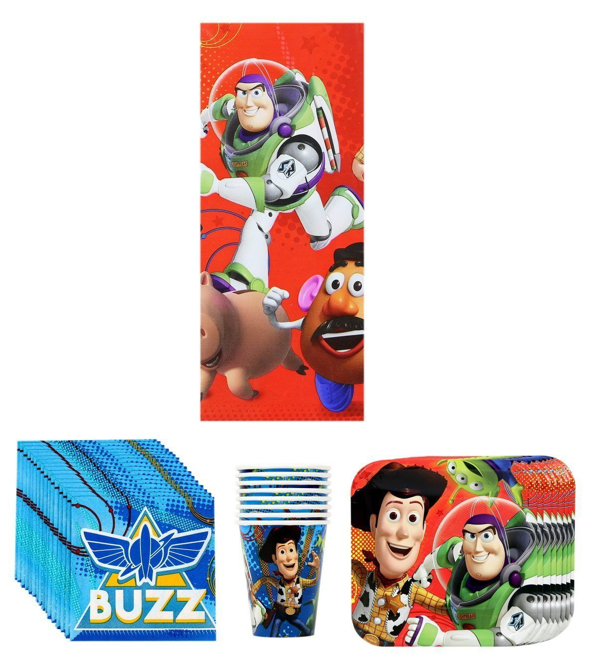 Disney Pixar Toy Story Birthday Party Supplies Bundle Plates Cups Napkins and Table  sc 1 st  Pinterest & Toy Story Birthday Party Supplies Bundle for 8: Plates Cups ...