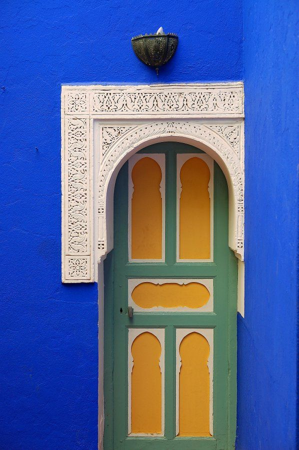 Africa | Door at the Majorelle Garden, Marrakech |  ©Luc Viatour