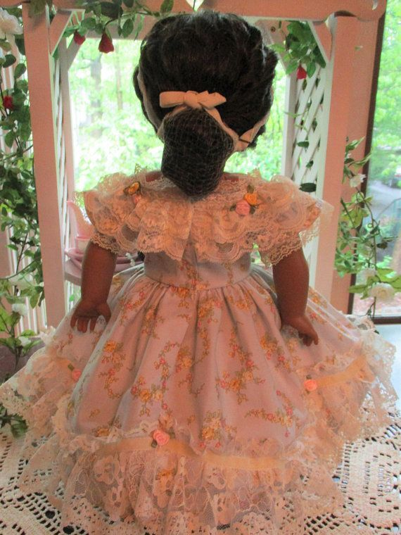 Southern Belle Historic Doll Dress to fit your 18 American Girl Doll from Civil War Era #dressesfromthesouthernbelleera Southern Belle Historic Doll Dress to fit your 18 #dressesfromthesouthernbelleera