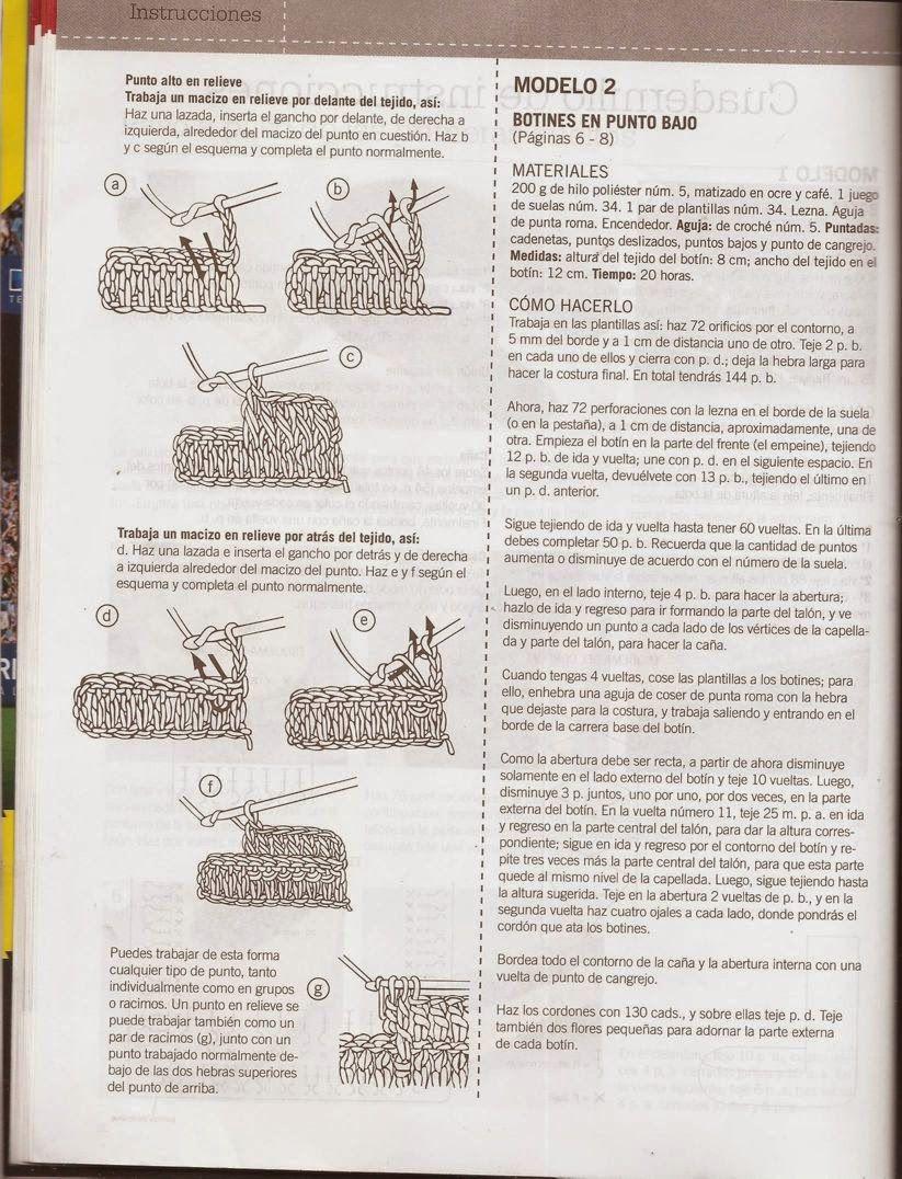Gráfico de Botas | botas | Pinterest | Botas, Zapatitos crochet y ...
