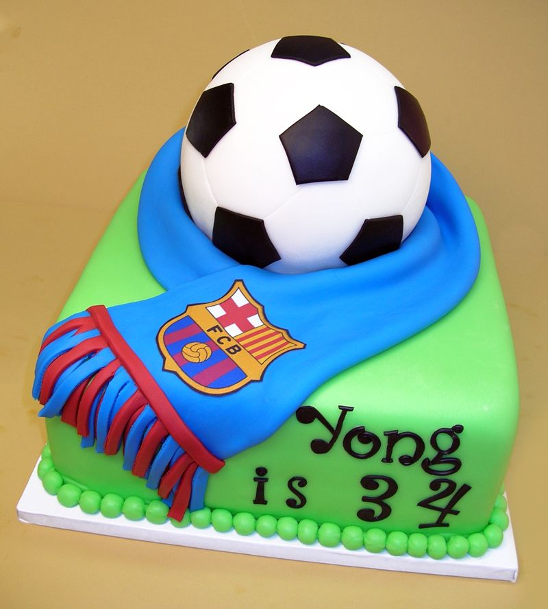 How To Decorate A Soccer Ball Cake Classy Soccer Theme Cake  Google Search  Maddi's Cake Ideas  Pinterest 2018