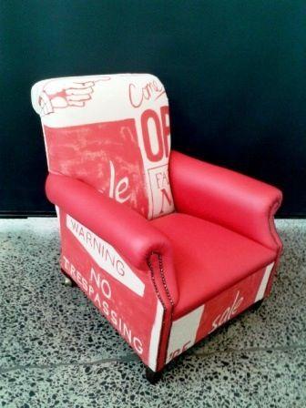 Handpainted Signage armchair
