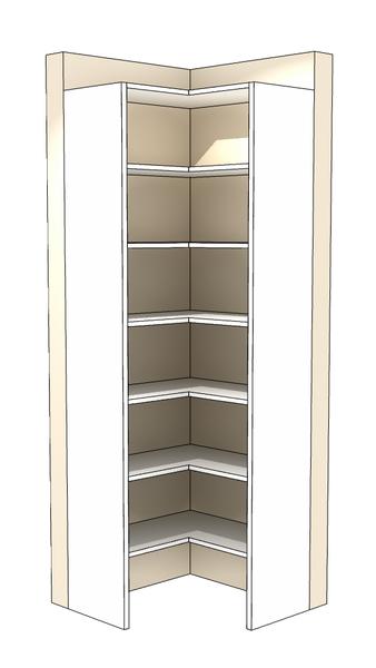 Sierra Corner Tower Corner Closet Organizer Corner Closet Corner Wardrobe Closet