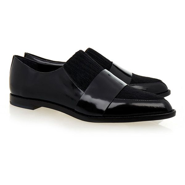 Loeffler Randall Rosa Black Spazzolato Calf Hair and Patent Leather...  ($175)