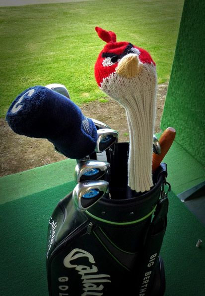 knitterbees: Angry Bird Golf Club Cover