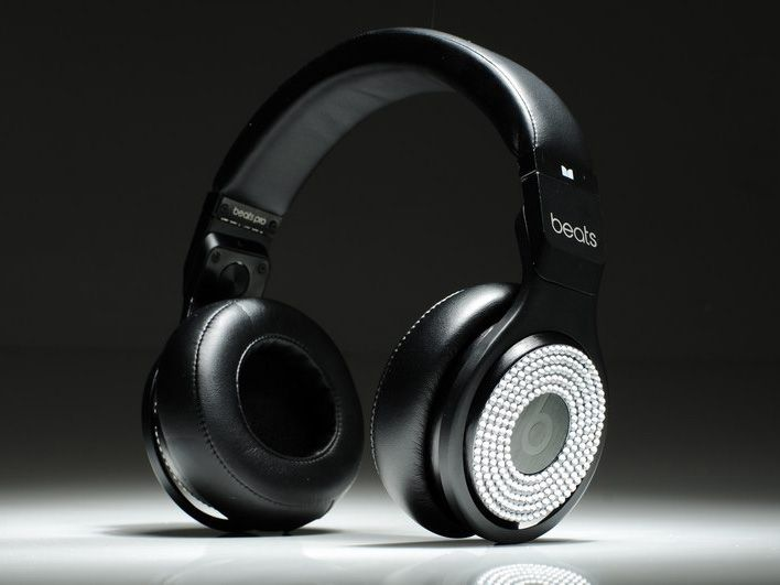 Monster Beats By Dr Dre Pro Diamond White High Performance Black Beats Earphones Black Headphones Beats Pro