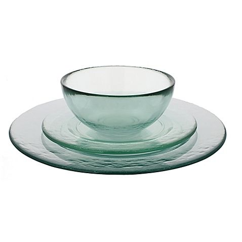 French Home Recycled Glass Dinnerware Collection Glass