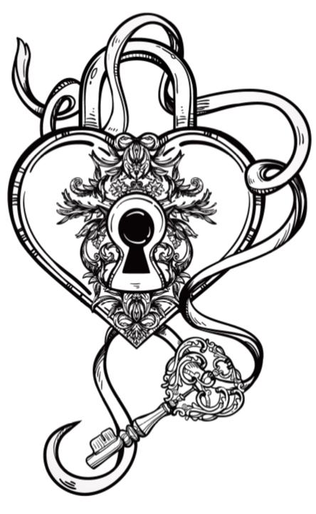 The Key To My Heart Celestial Alchemy Rosalie Young AlchemyThe KeysColoring PagesMy