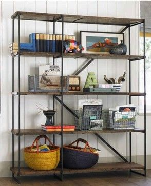 These shelves are vintage modern style to a T, and they are eco