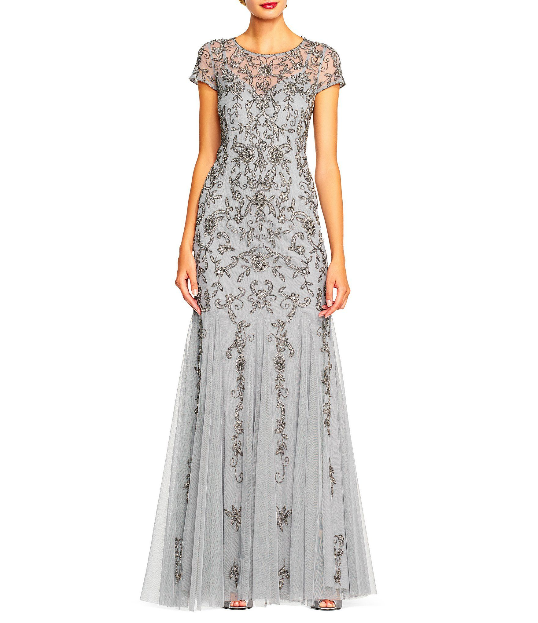 Adrianna Papell Beaded Gown #Dillards | Our wedding day | Pinterest ...