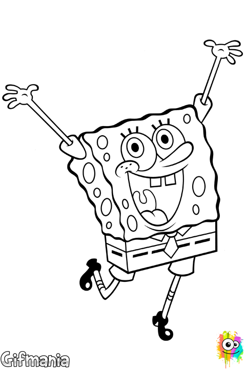 Colorea el dibujo de Bob Esponja como más te guste! #BobEsponja ...