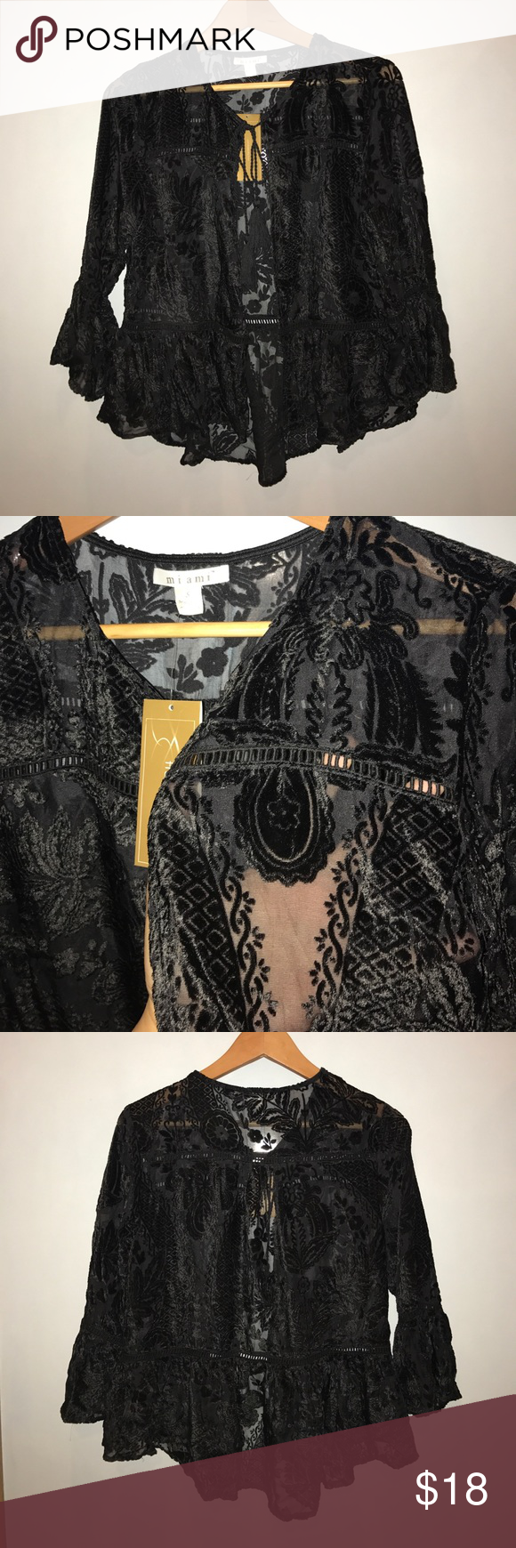 Sheer Lace Cardigan NWT | Tassels and Customer support