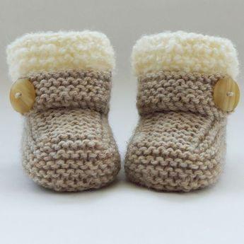 Strickanleitung Baby Booties #booties