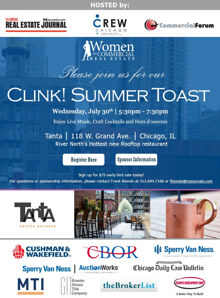 Cre chicago event women in commercial real estate clink