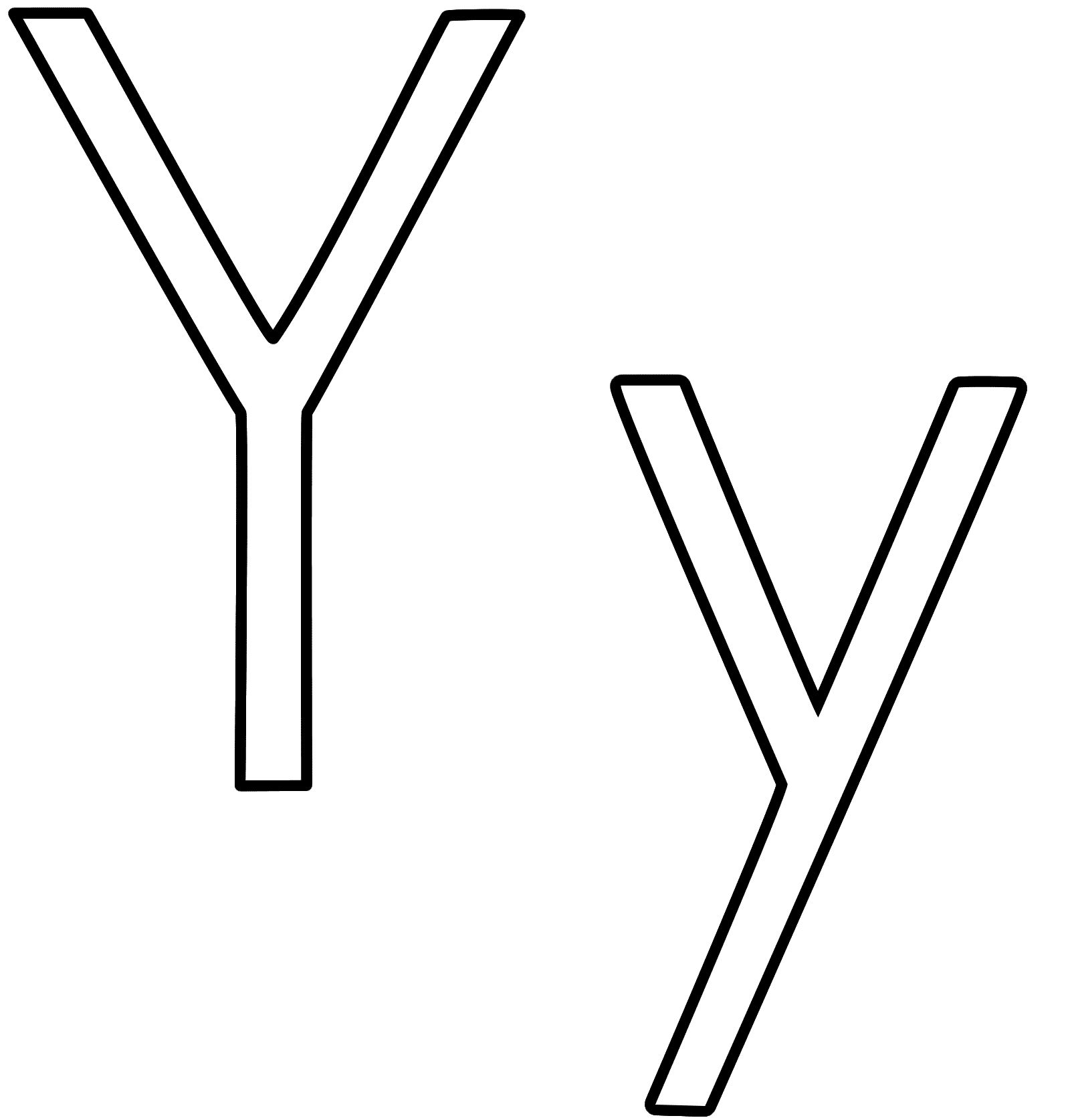 Letter Y Clip Art Black And White