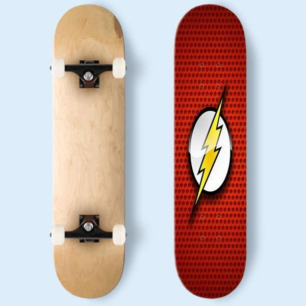 Skateboard Ideas Part - 35: The Justice League The Flash Skateboard | Cozymoshi