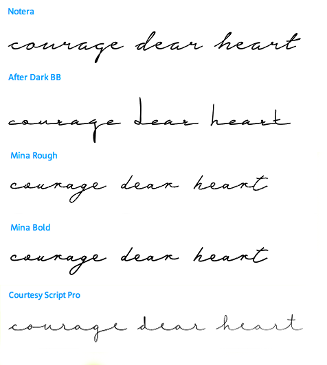Courage dear heart which font tattoo ideas