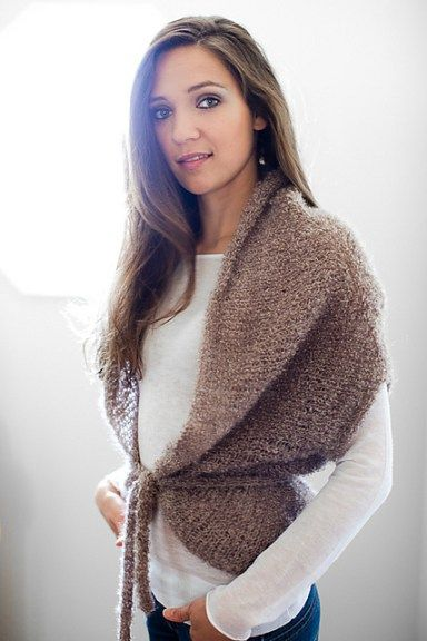 Easy Shrug Knitting Patterns | Ponchos y Chal