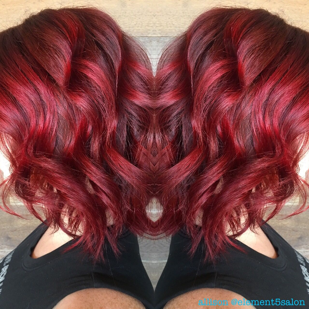 Red Shadow Root With Platinum Blonde Using 6r Pravana Shadowroot Red Haircolor Pla Blonde Hair With Roots Short Platinum Blonde Hair Beautiful Hair Color