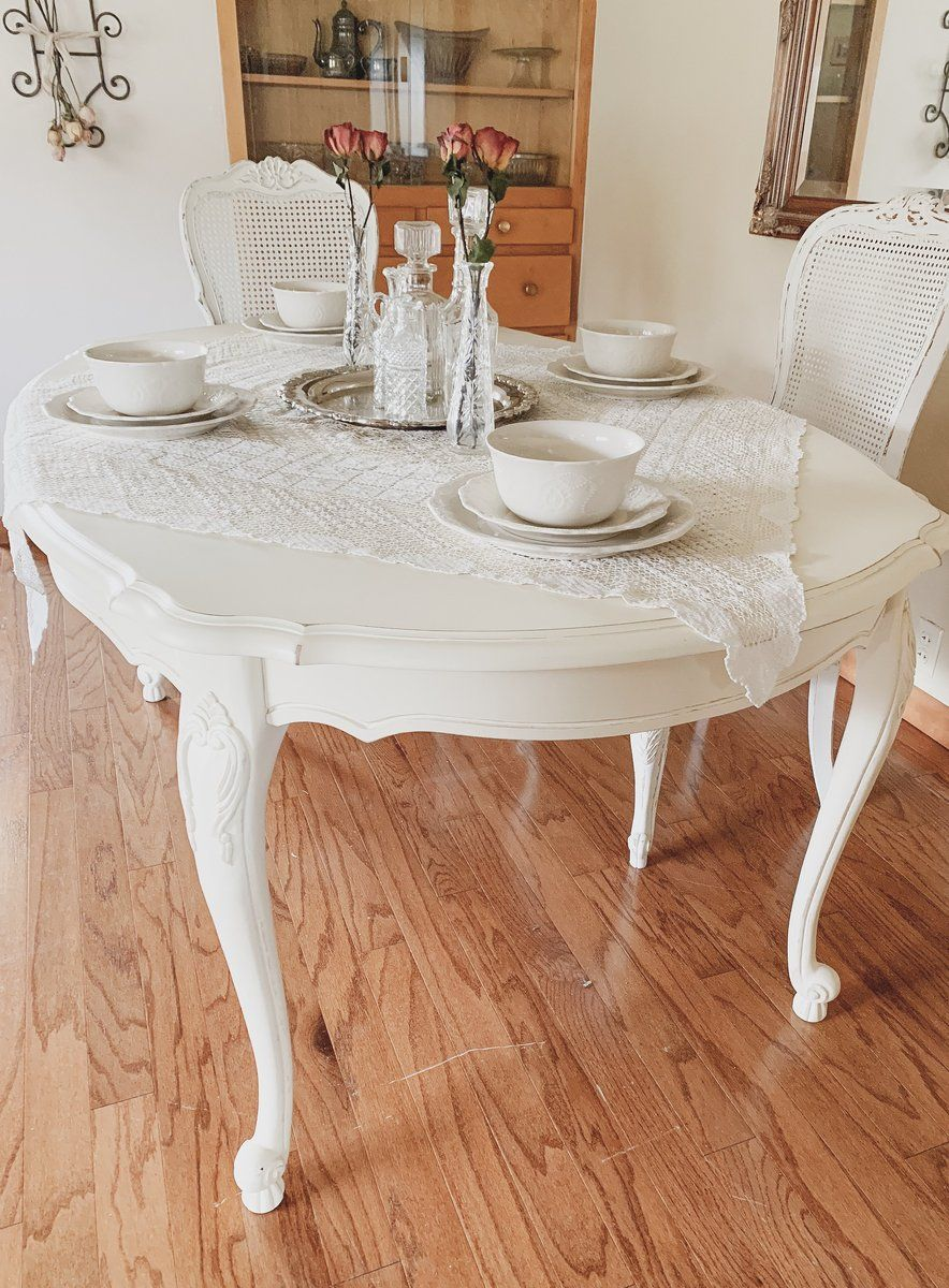 French Queen Anne Style Painted Dining Table Beautiful One Of A