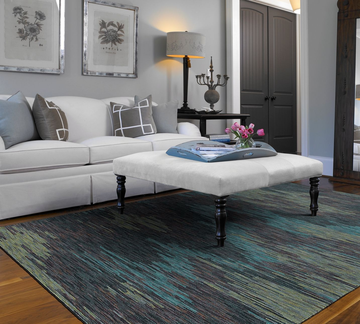 Hgtv Home Area Rug In Style Ethos Color Blue Flooring By Shaw