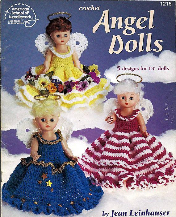 Crochet Doll Pattern Angel Dolls 5 Designs by grammysyarngarden, $6.00