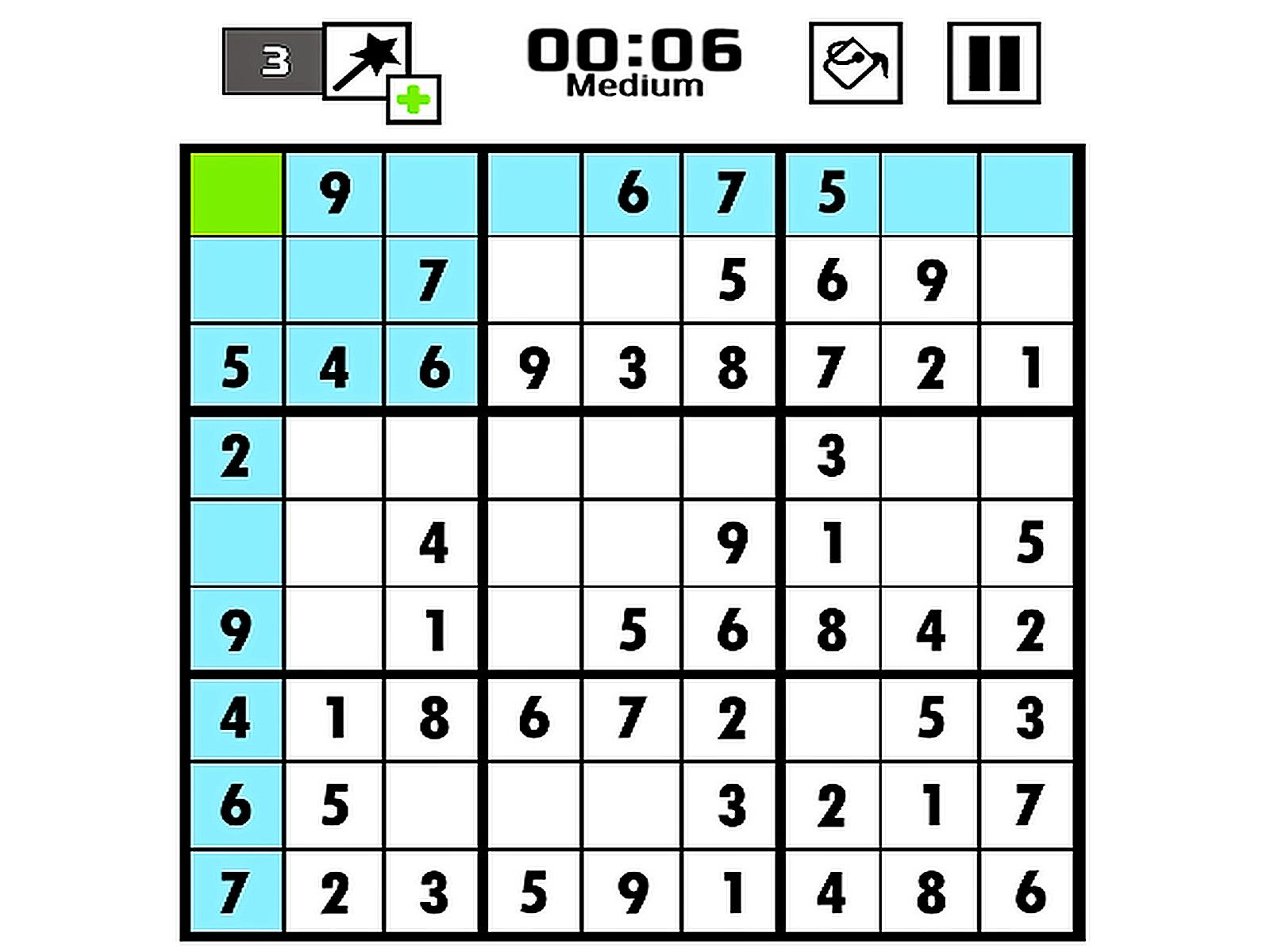 Game of the day Sudoku Use mouse or tap to Pick the