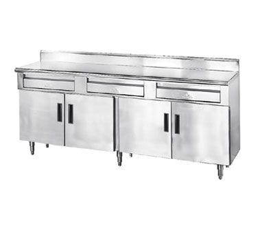 "Advance Tabco HDRC-305 30"" X 60"" Enclosed Base Stainless Steel Work Table W/ 2 Drawers, 2 Hinged Doo"
