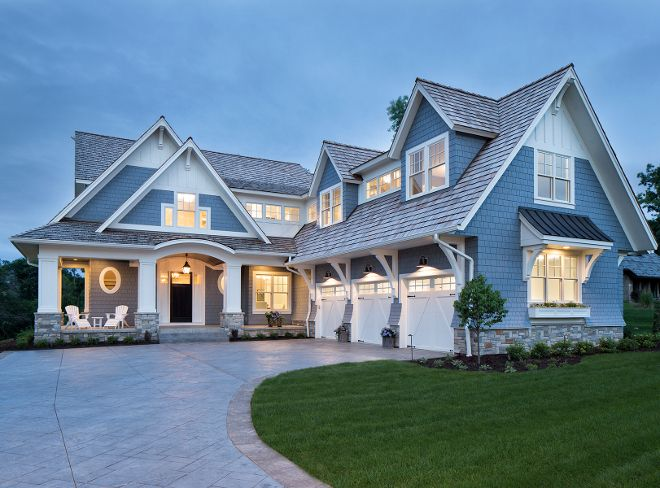 The exterior paint color is Sherwin Williams SW6249 Storm
