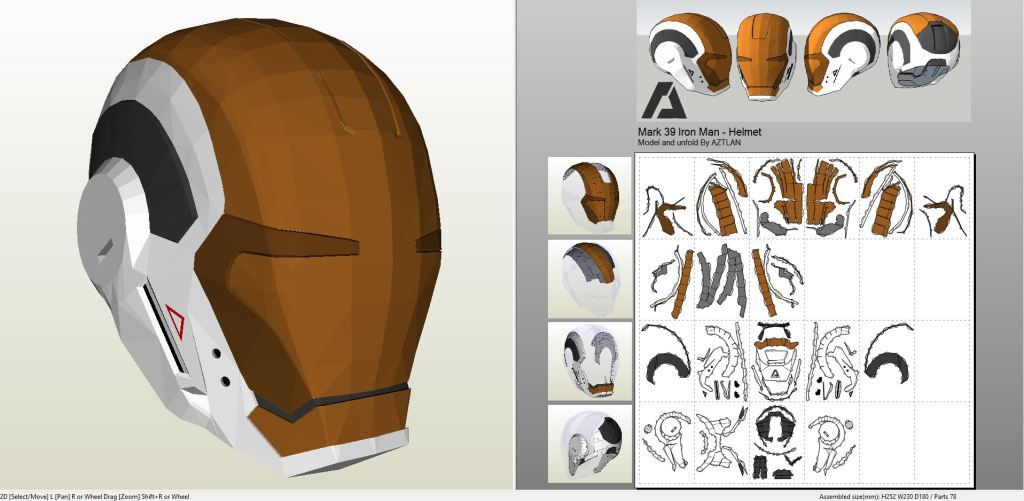 Papercraft pdo file template for iron man mark 39 gemini helmet papercraft pdo file template for iron man mark 39 gemini helmet pronofoot35fo Image collections