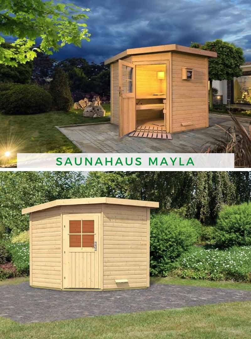 Saunahaus Mayla in 2019 | Eine Sauna für den Garten | Saunahaus ...