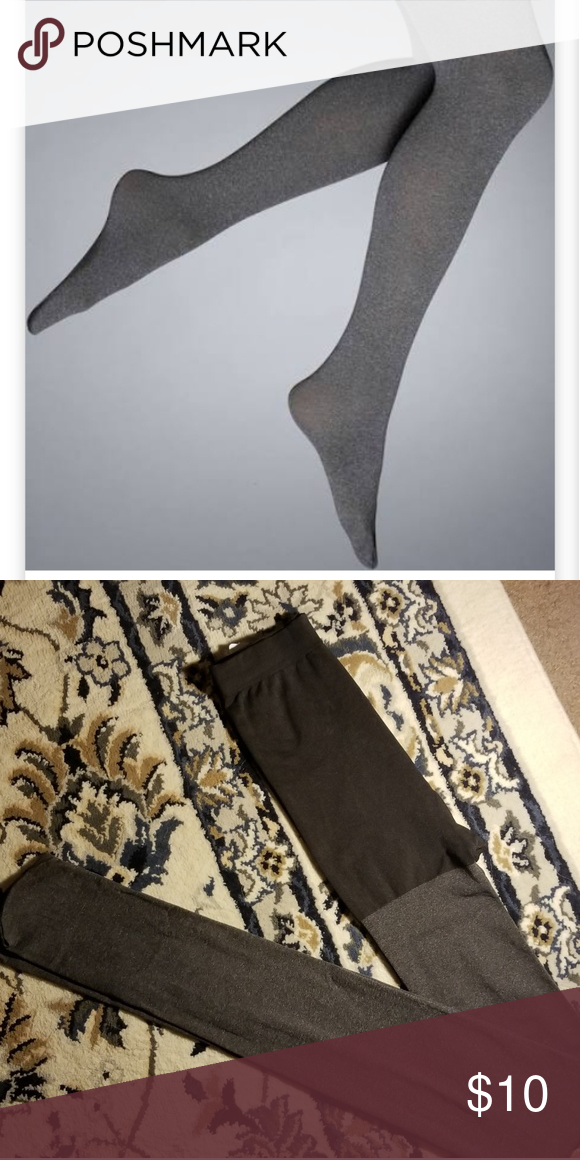 b74a965de5190 Size 3 Simply Vera Wang Control Top Grey Tights Like new, never worn. Simply