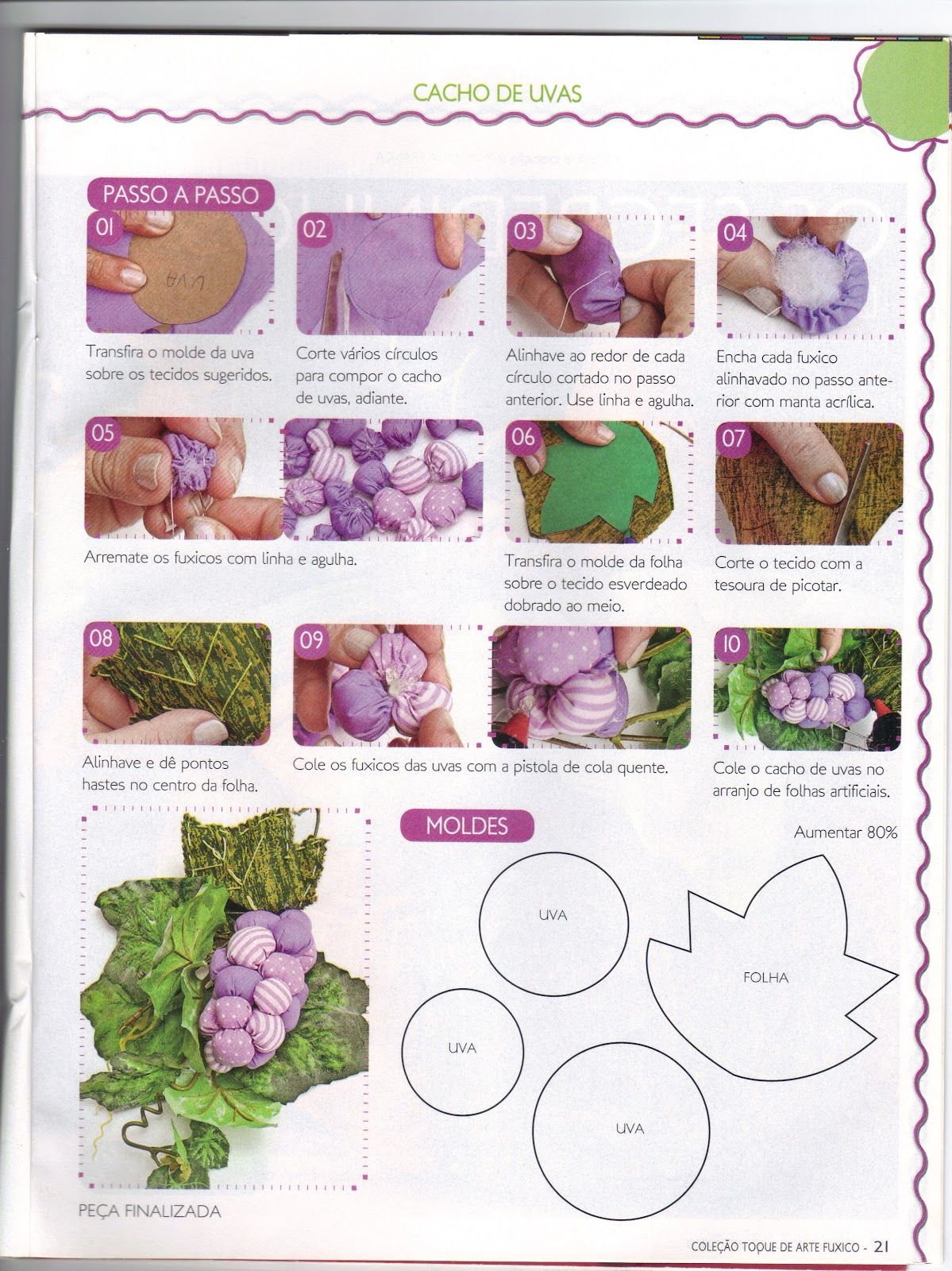 Adesivo Queimador De Gordura ~ Moldes Para Artesanato em Tecido Uvas de tecido com Molde Moldes Pinterest Artesanato em