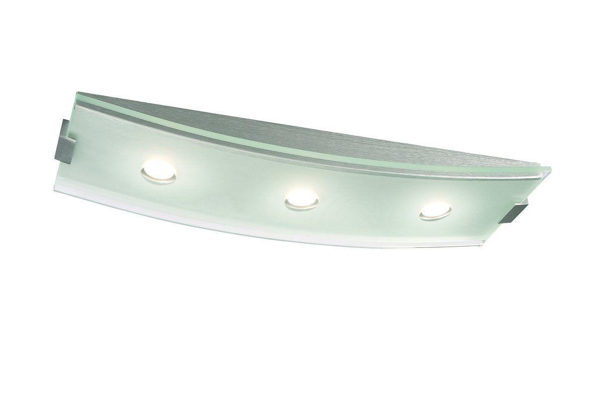 Shop Portfolio 3 Light Vassar Brushed Nickel Bathroom: View The Philips 37946 Altena 3 Light LED Flush Mount