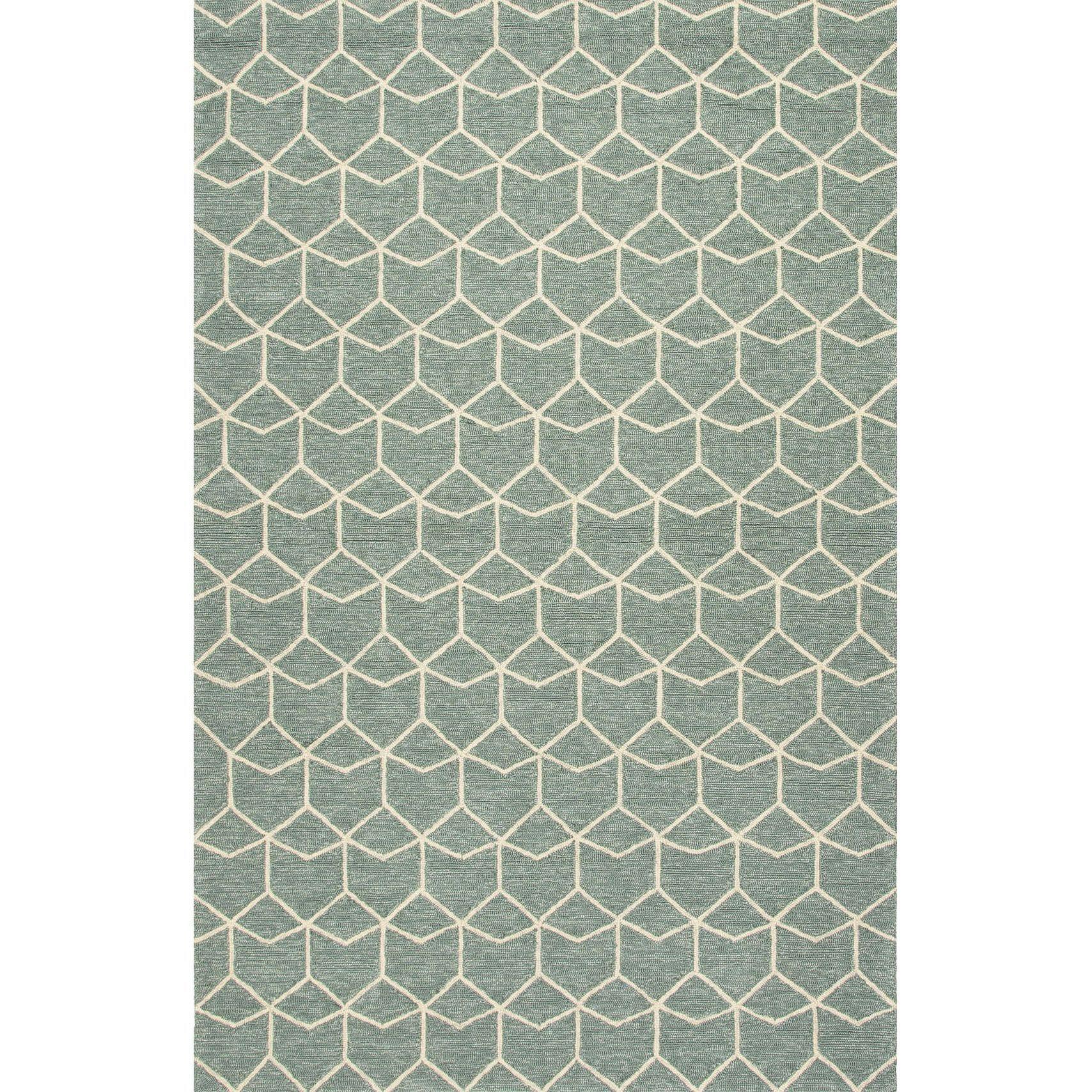 Finbar Indoor Outdoor Geometric Green Cream Area Rug 3 6 X 5 6