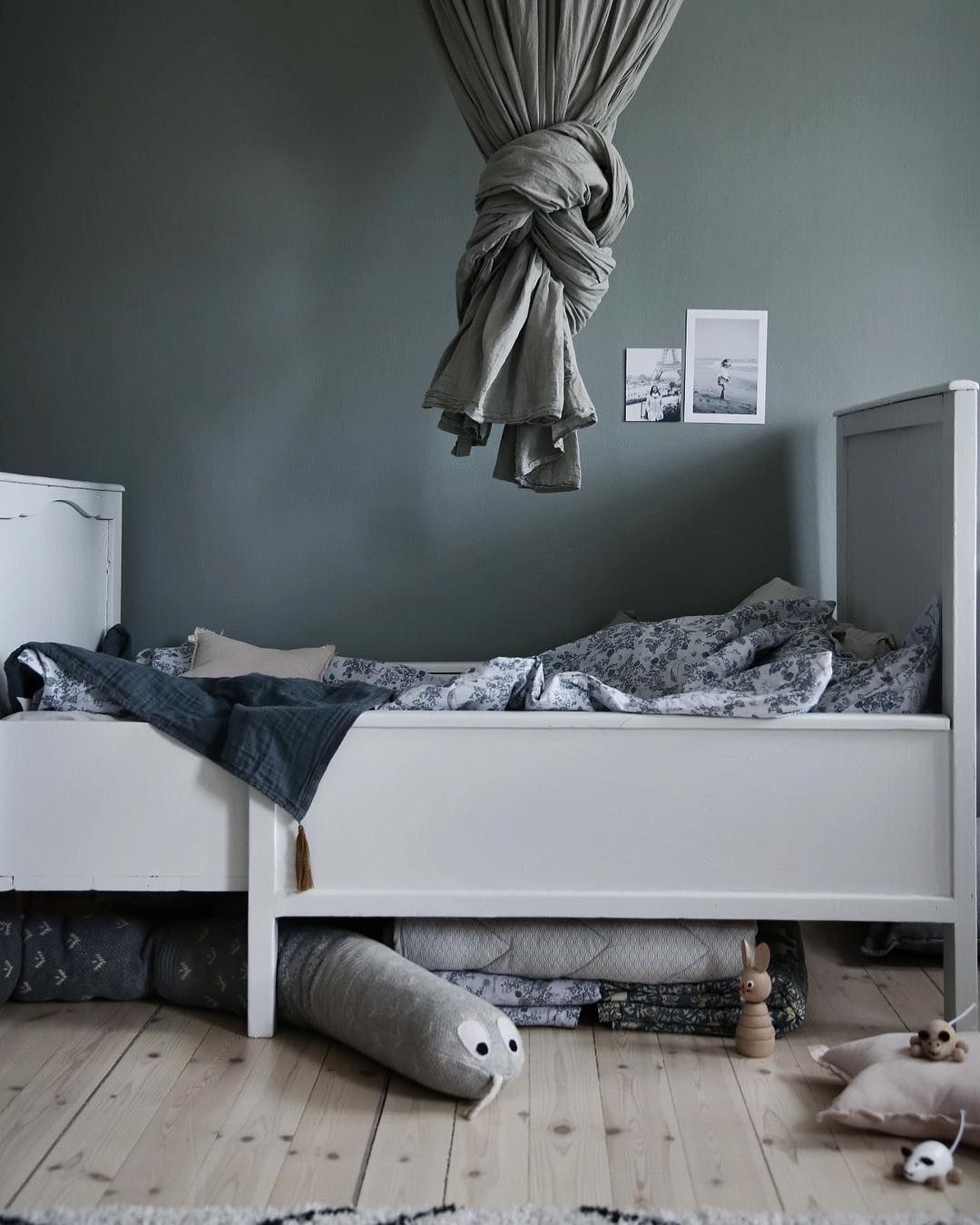 amusing green gray bedroom ideas kids | Grey-green - dark and moody and beautiful for a kids room ...