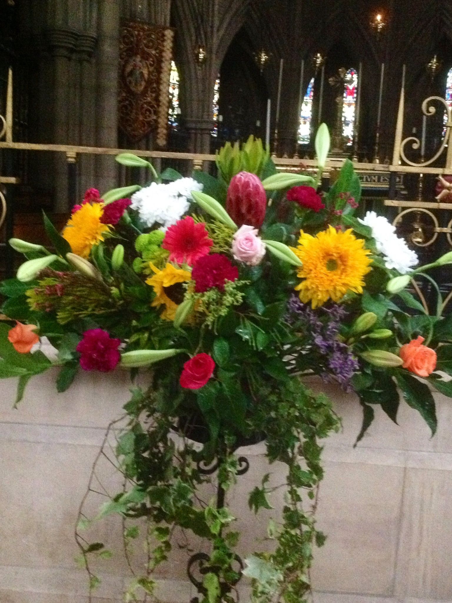 St Michael and All Angels Croydon summer flowers