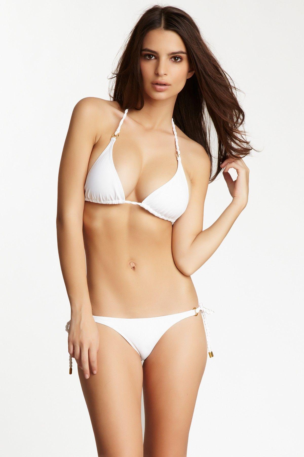 Hot babe white bikini photo can