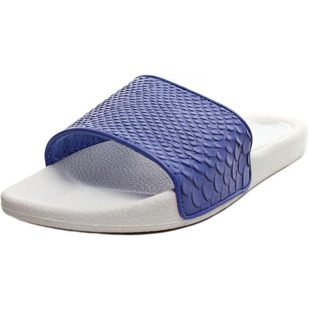 dolce vita blaise women us 7 blue slides sandal the style name is