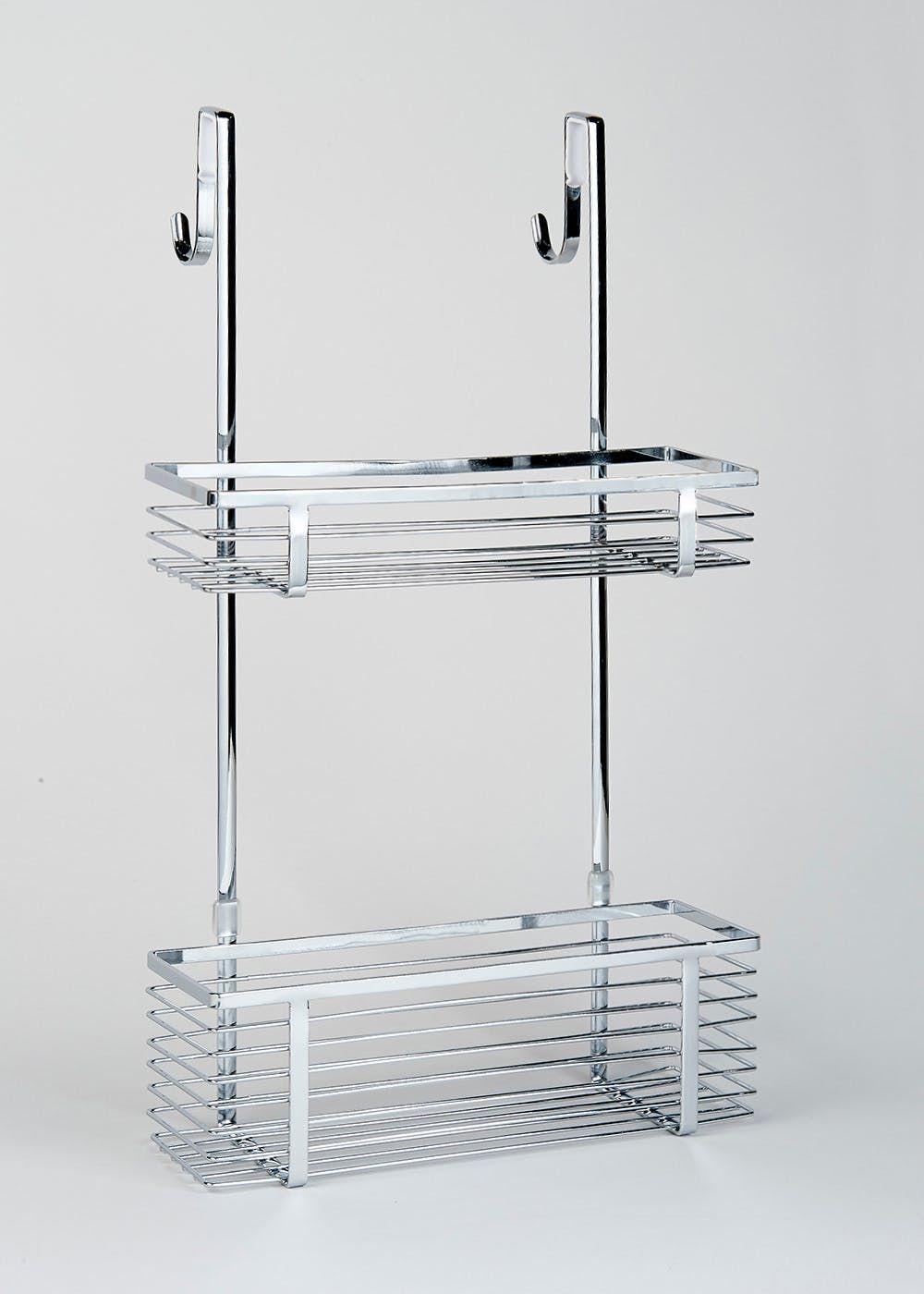 Chrome Over Shower Door Caddy (51cm x 30cm x 10cm) | Shower doors ...