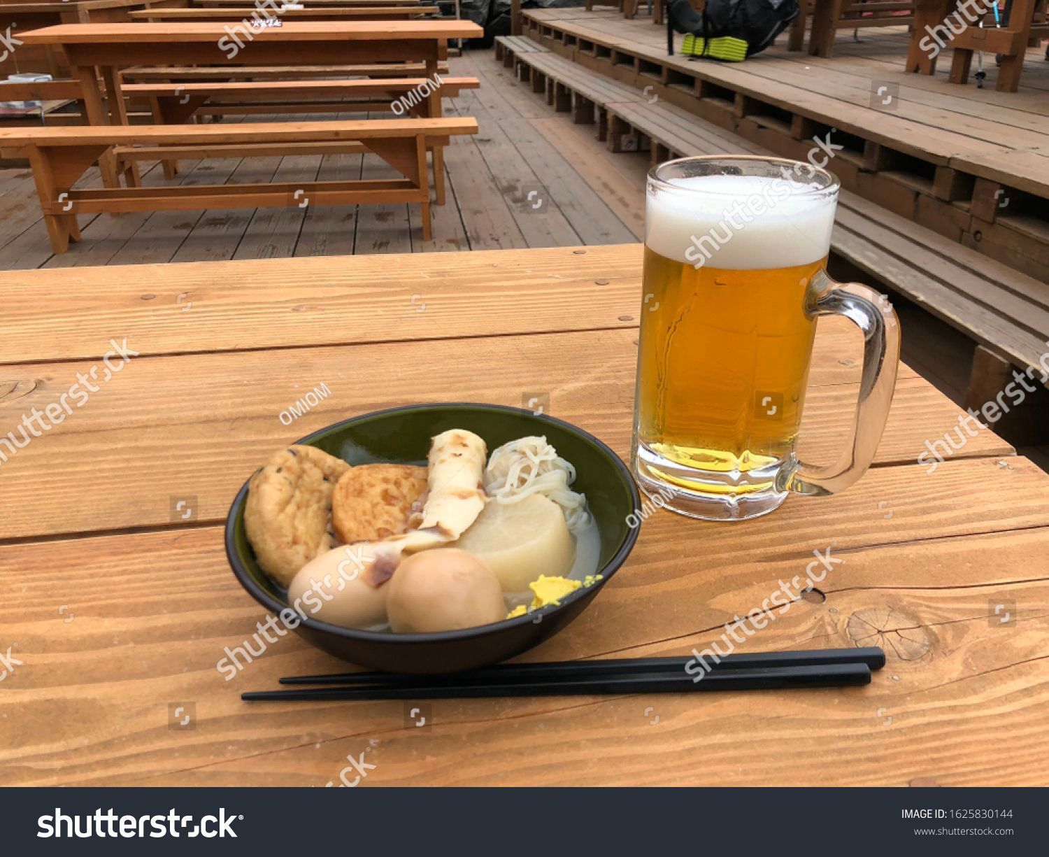 Oden, Japanese traditional food and beer in mountain. #Sponsored , #ad, #traditional#Japanese#Oden#mountain