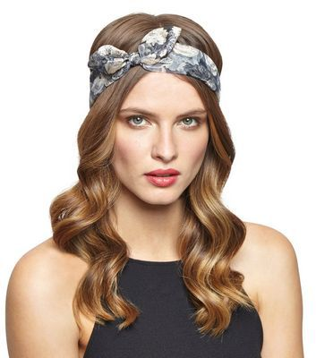 Fantastic Gold Floral Metallic Headscarf