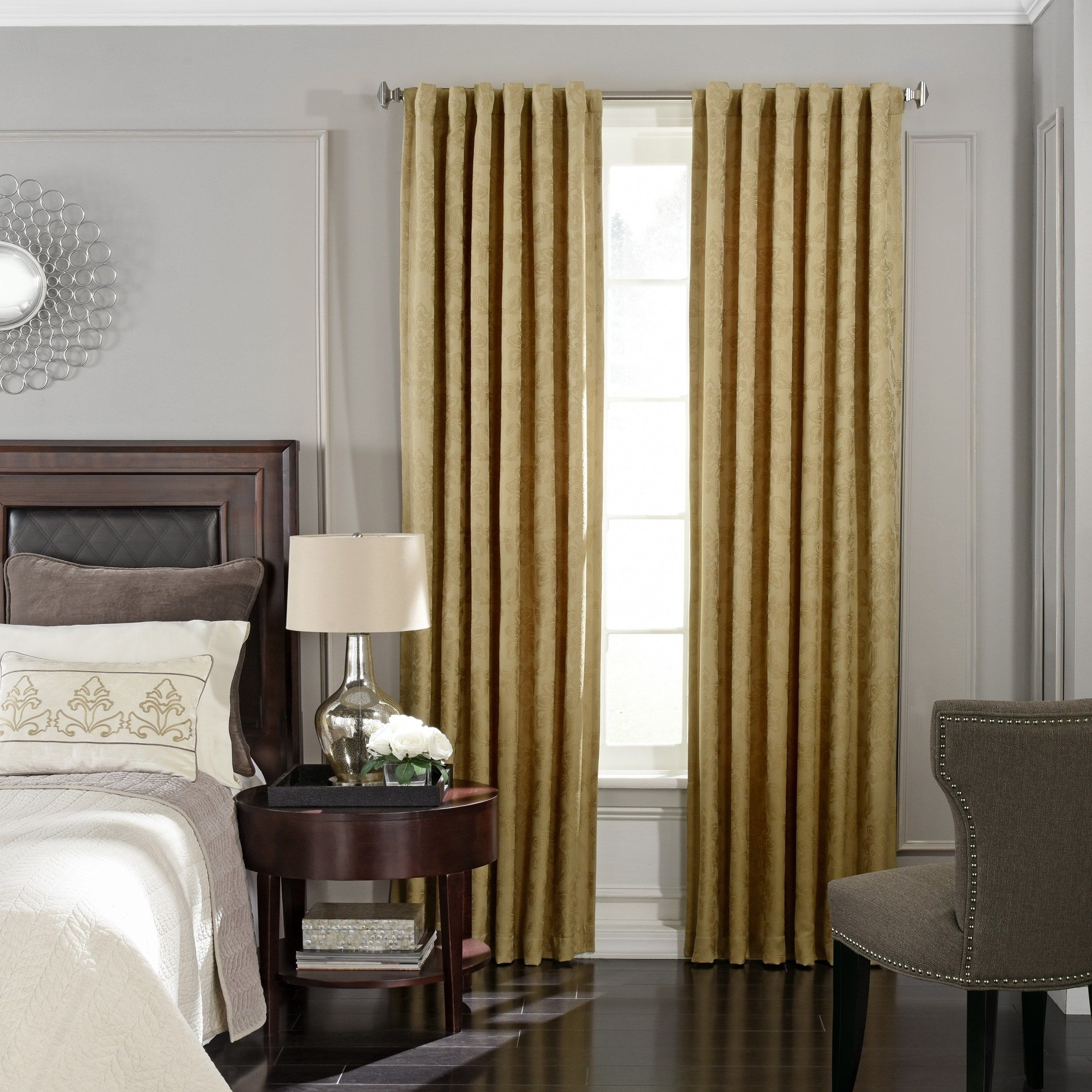 Beautyrest germaine blackout window curtain panel x gold