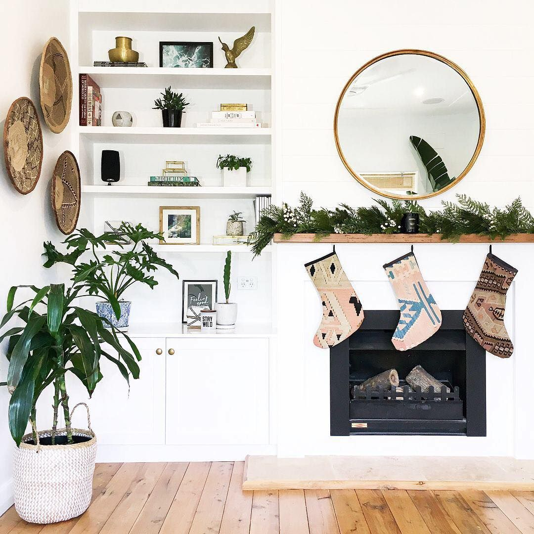 Cozy and bright. @hutchinson.house giving us some holiday home decor ideas to try.   Share yours with #MyPinterest.