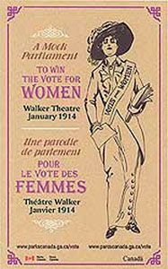 What were the main events that led to women's right to vote in Canada?