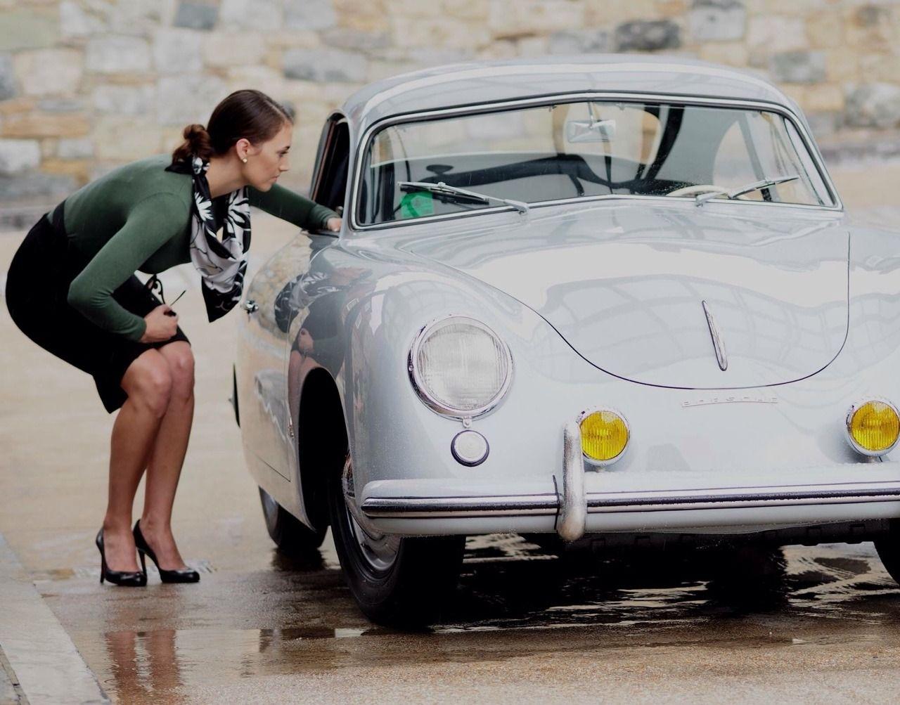 """PORSCHE 356 SPEEDSTERS AT THE FACTORY CAR ART POSTER PRINT 18"""" x 24/"""" Giclee"""