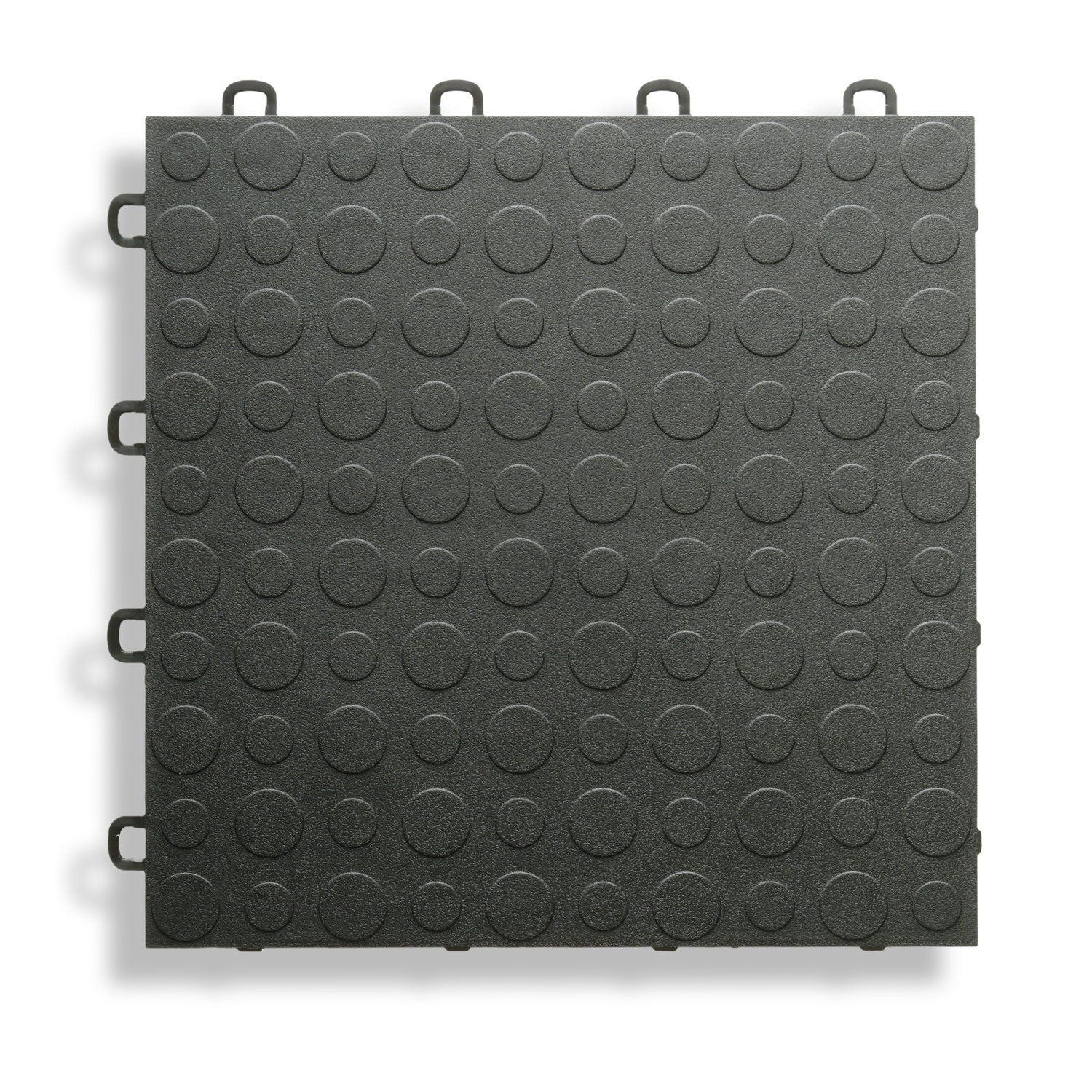 BlockTile B0US4230 Garage Flooring Interlocking Tiles Coin Top Pack, Black, 30-Pack - Construction Tiles - Amazon.com